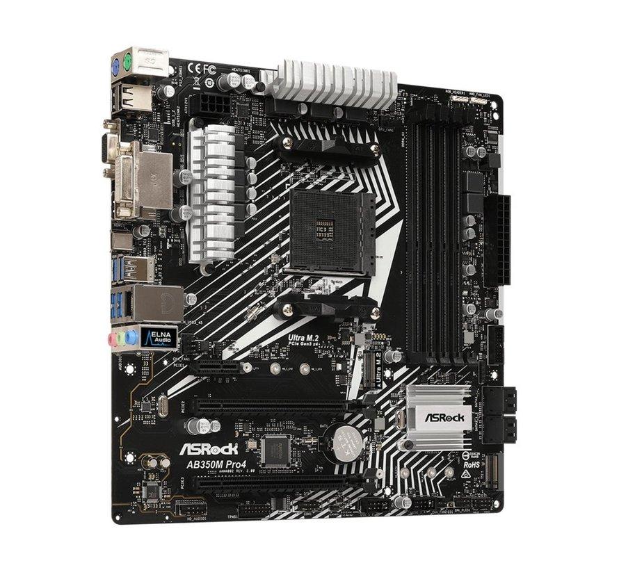 MB  AB350M Pro4 AM4 R2.0 /4xDDR4 /USB3/mATX