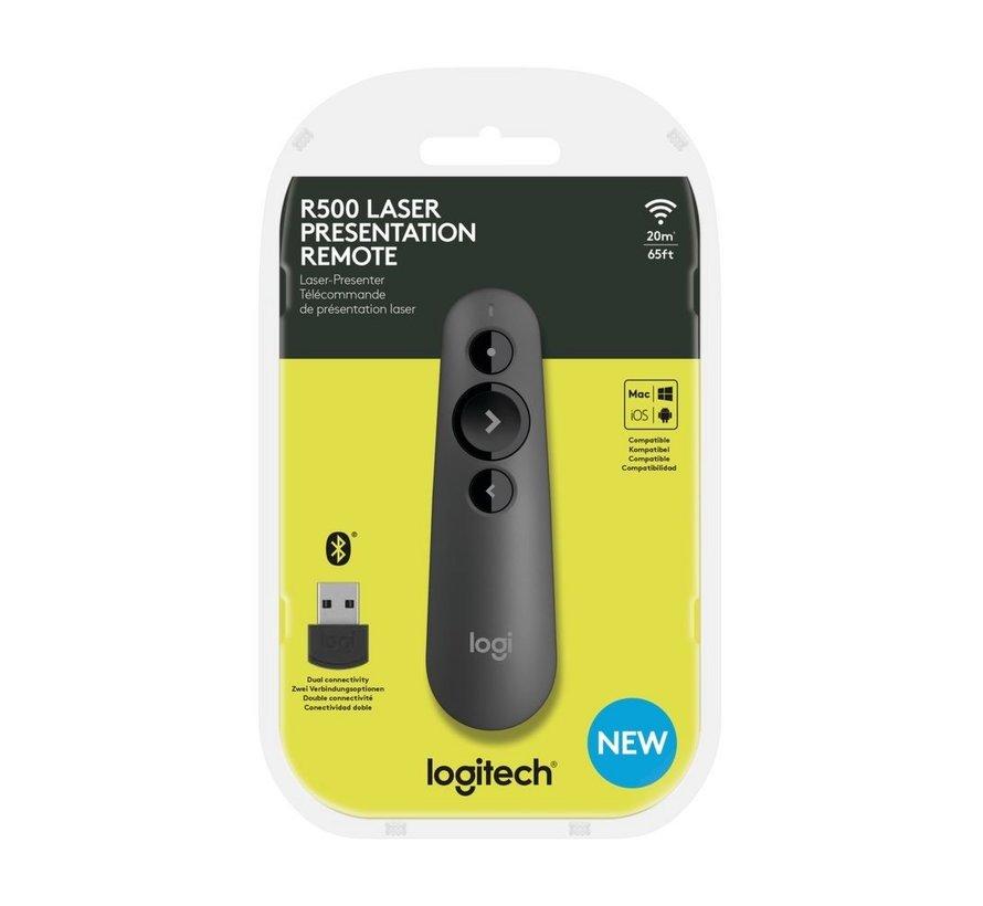 R500 Draadloze presenter Bluetooth/RF Grafiet