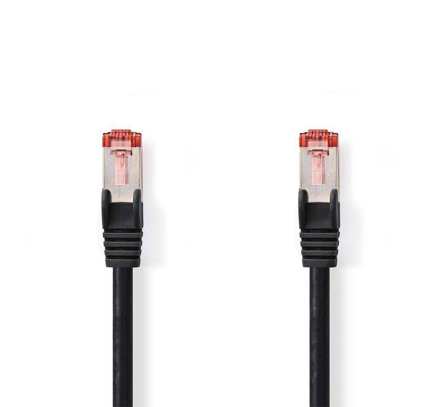 CAT6 S/FTP-netwerkkabel/RJ45 1m Zwart