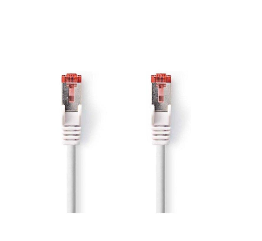 CAT6 S/FTP-netwerkkabel/RJ45 2m Wit