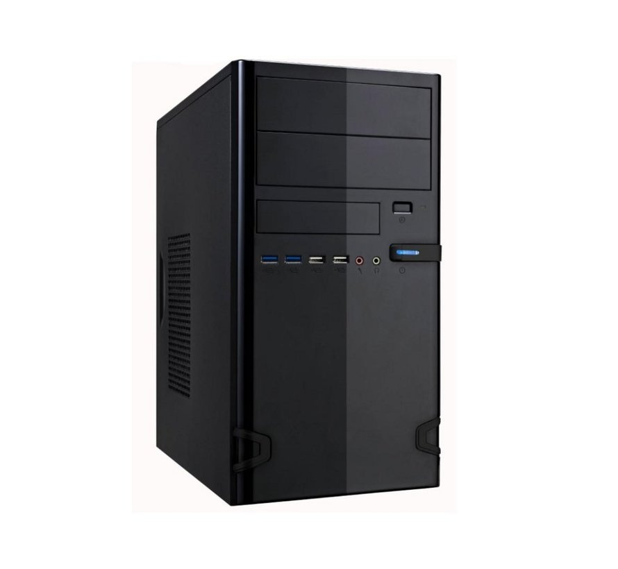 "Case 727-22 Black 450Watt M-ATX USB 3.0 ""Steel Brushed"""