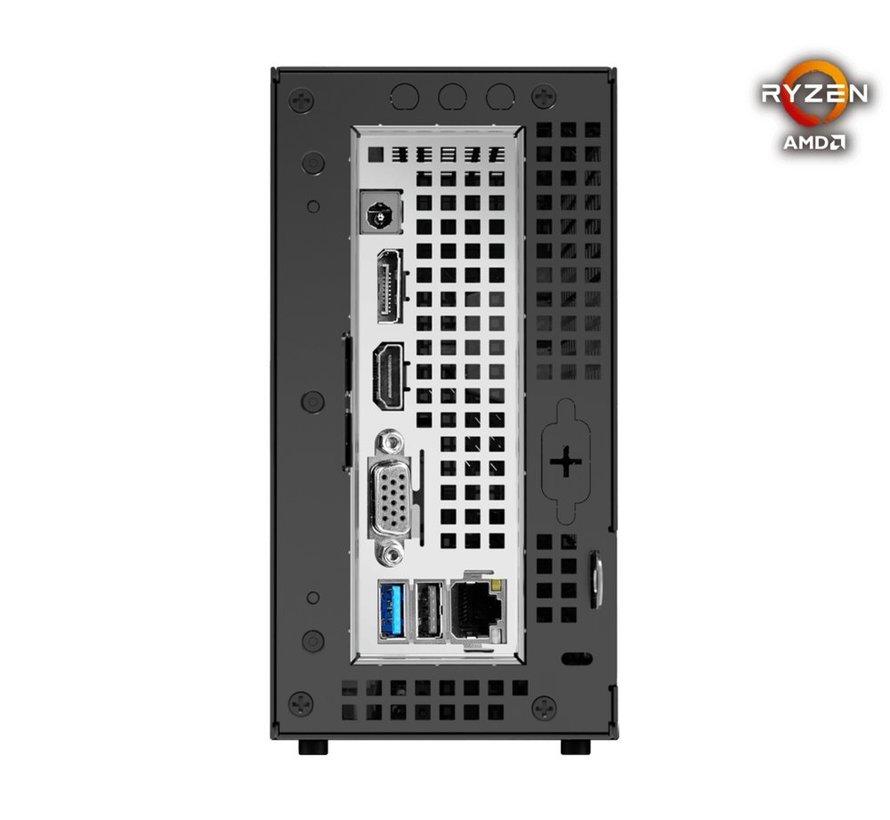DeskMini X300 1,92L maat pc Zwart Socket AM4