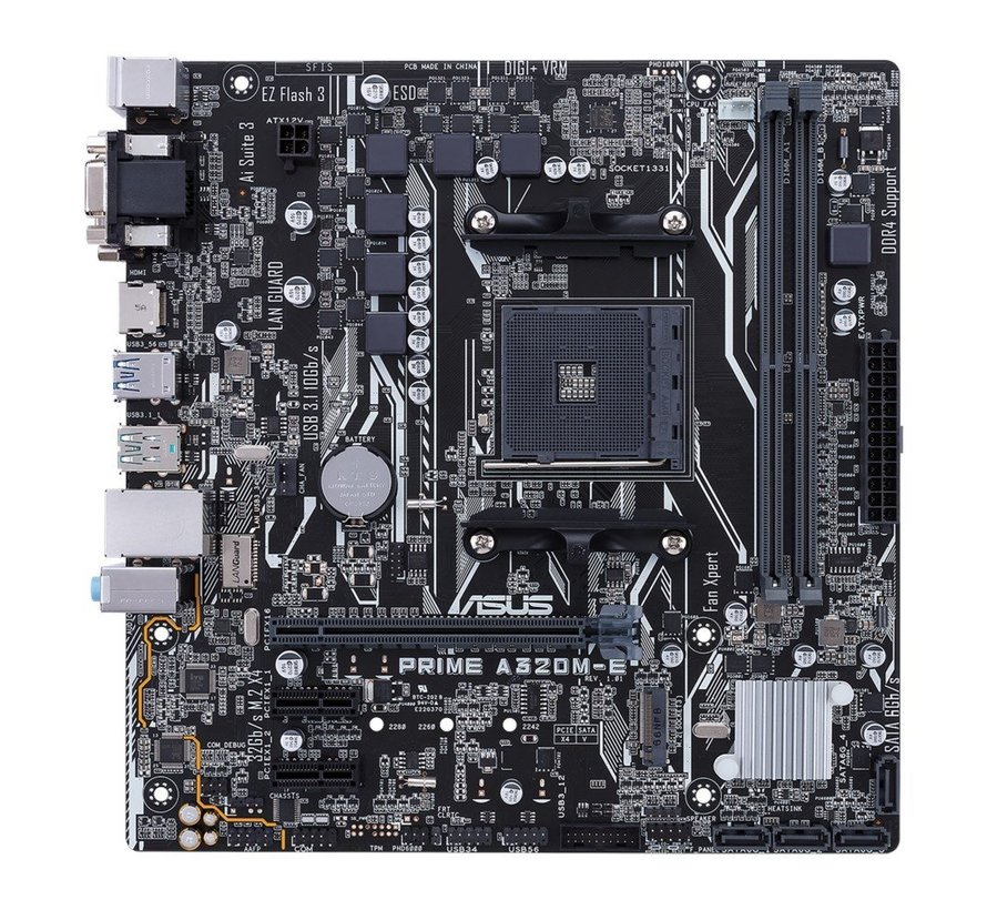 MB  PRIME A320M-E AMD A320 Socket AM4 mATX