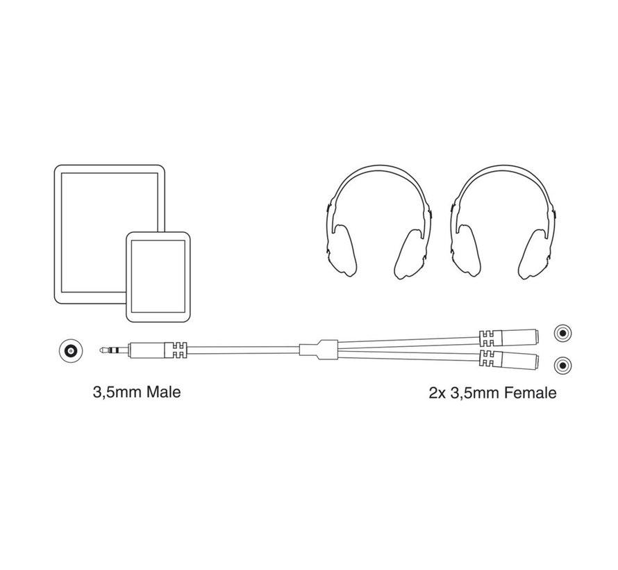 Professional Audio Splitter Mini Jack M- F 0.15m