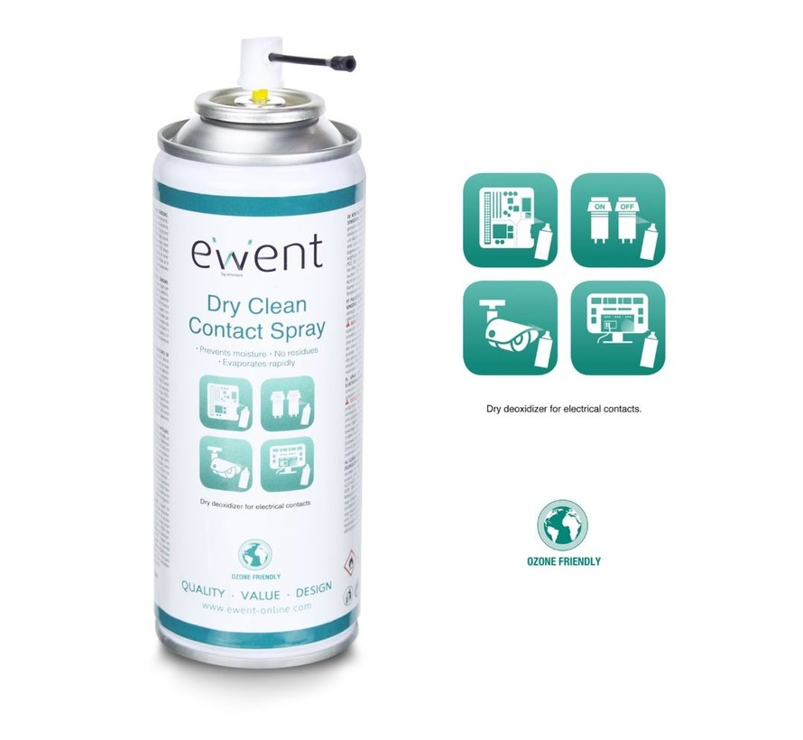 Dry clean contact spray