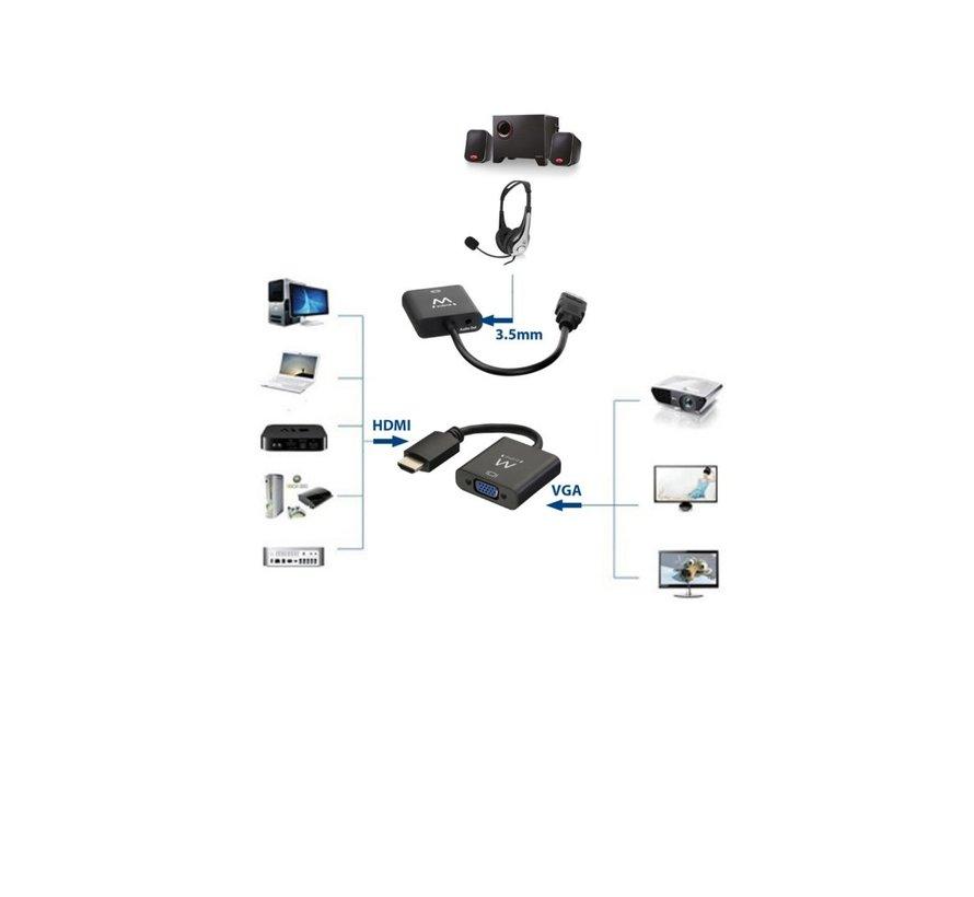 Converter Cable HDMI male - VGA female with audio 0.15