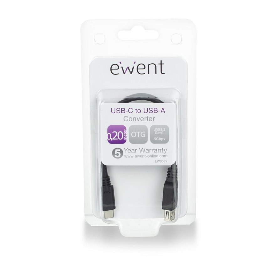 USB-C - Type-A female OTG Cable USB 3.2 Gen1 0.2 M