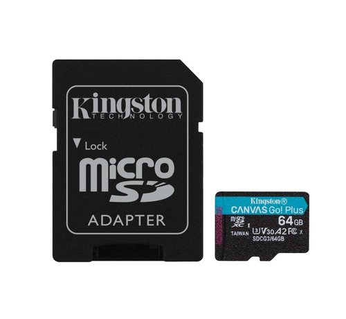 Kingston Technology Canvas Go! Plus flashgeheugen 64 GB Micr
