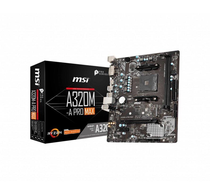 MB  A320M-A PRO MAX / AM4 / 1x PCI-E / m.2 / mATX
