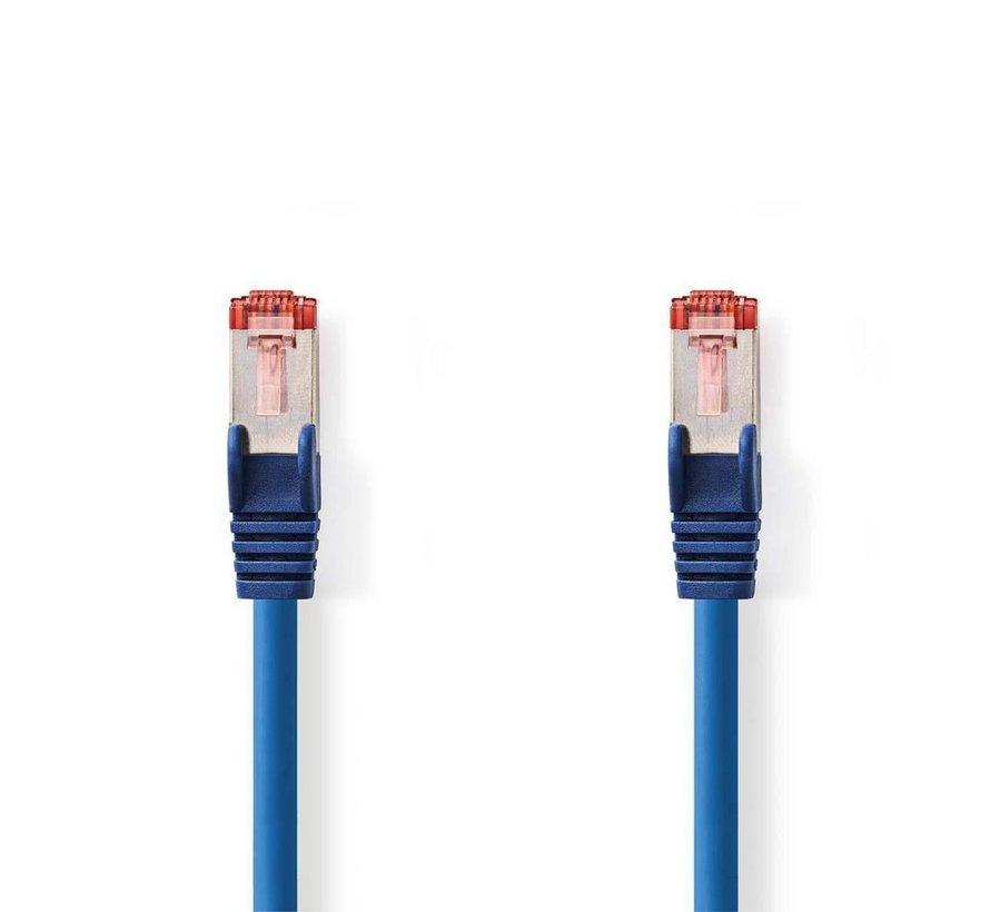 CAT6 S/FTP-netwerkkabel/RJ45 3m Blauw