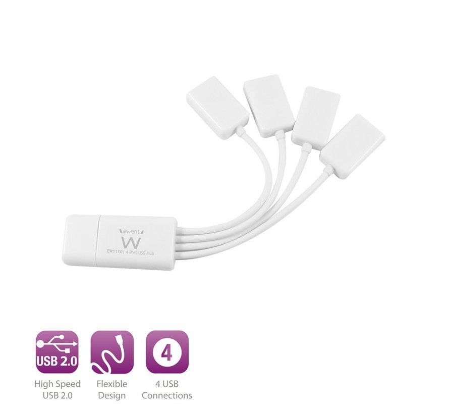 USB 2.0 Hub 4 port without adapter spider model