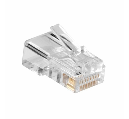 Ewent Modular Connector RJ45 (10 pieces) Round Stranded