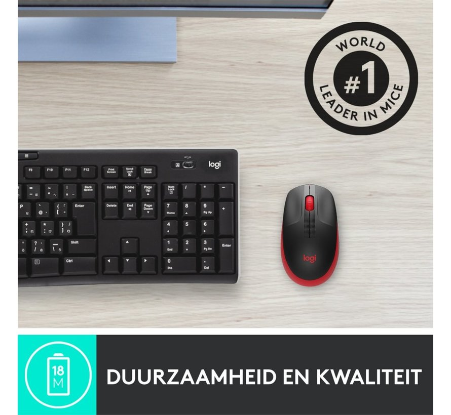 M190 wireless mouse Red