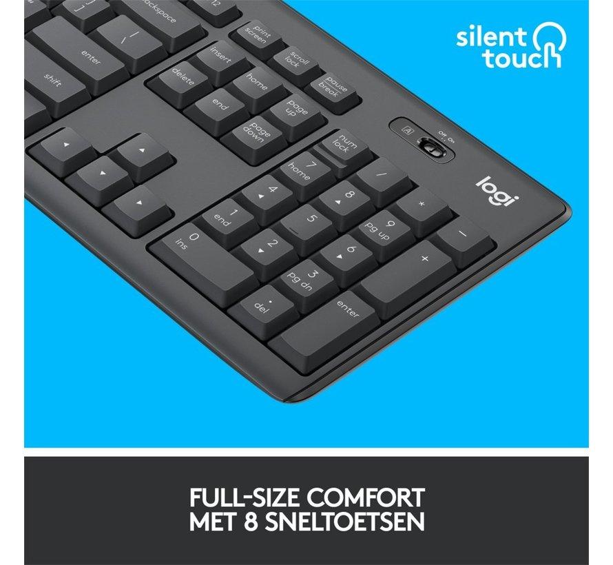MK295 Silent Keyb + Mouse Combo Wireless Black