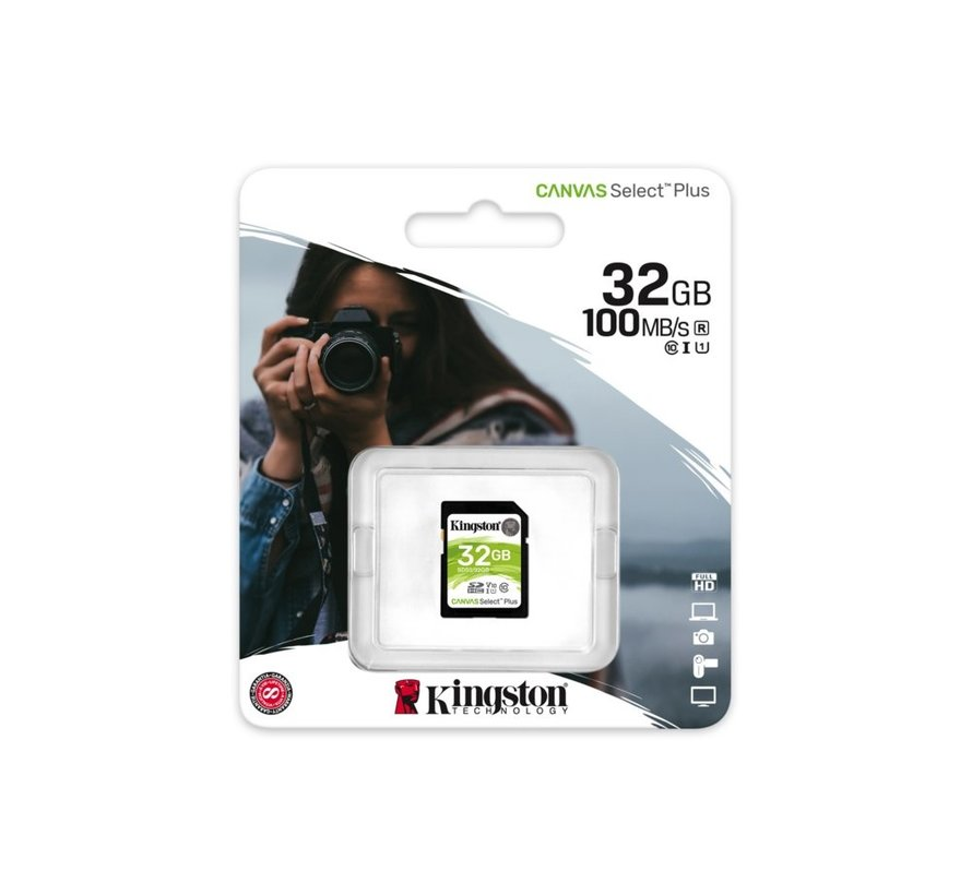 SDHC Card 32GB  UHS-I Canvas Select Plus