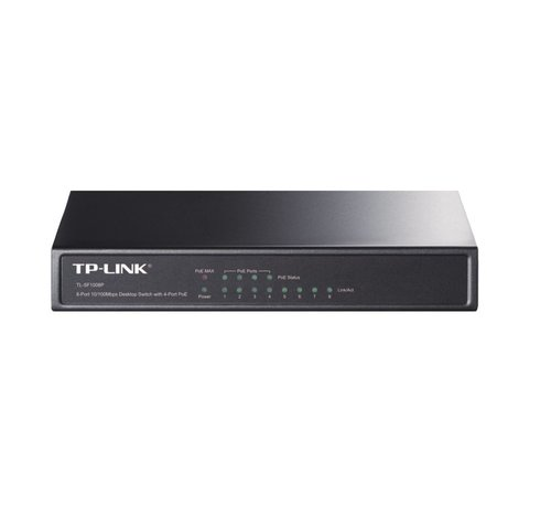 TP-Link Switch 8-Poorts 10/100Mbit PoE Unmanaged