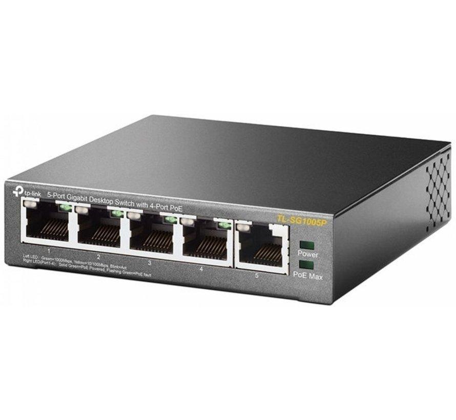 TP-link Switch 5x 10/100/1000Mbps 4x POE