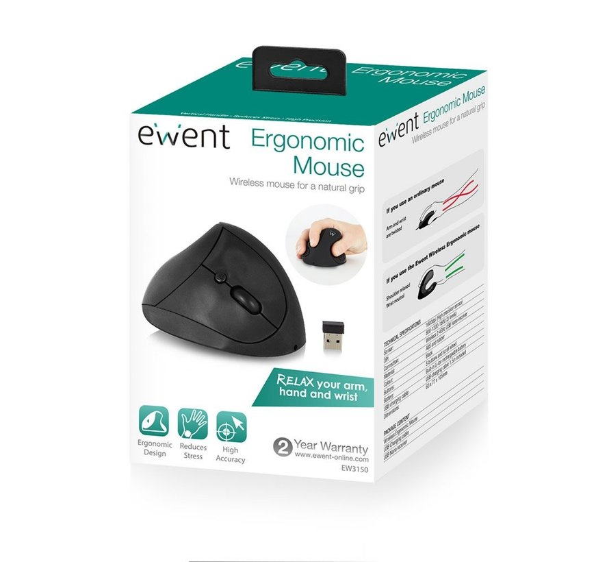 wireless Ergonomic mouse rechargable-> opvolger ew3151