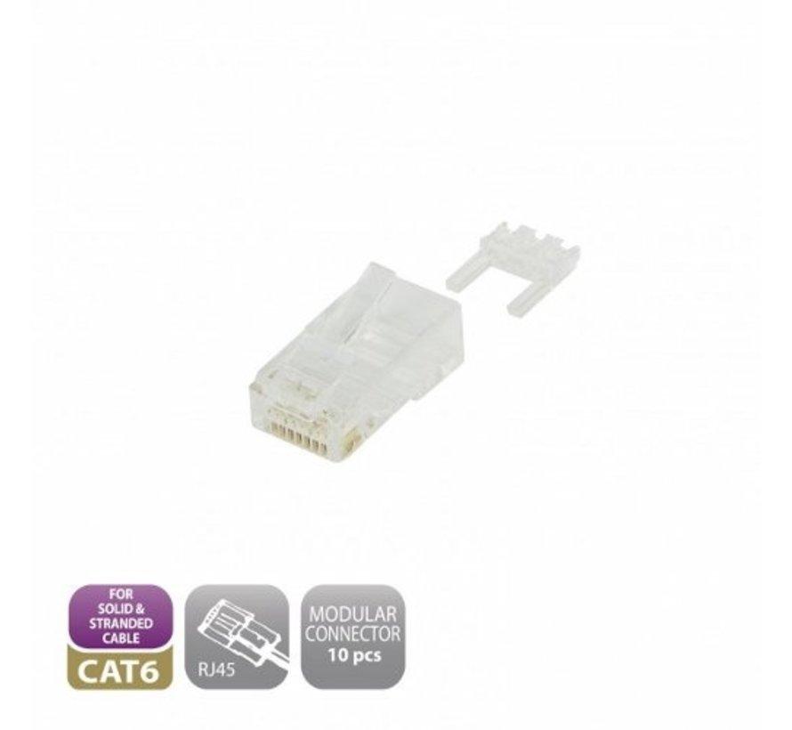 Modular CAT6 Connector RJ45 (10 pieces)