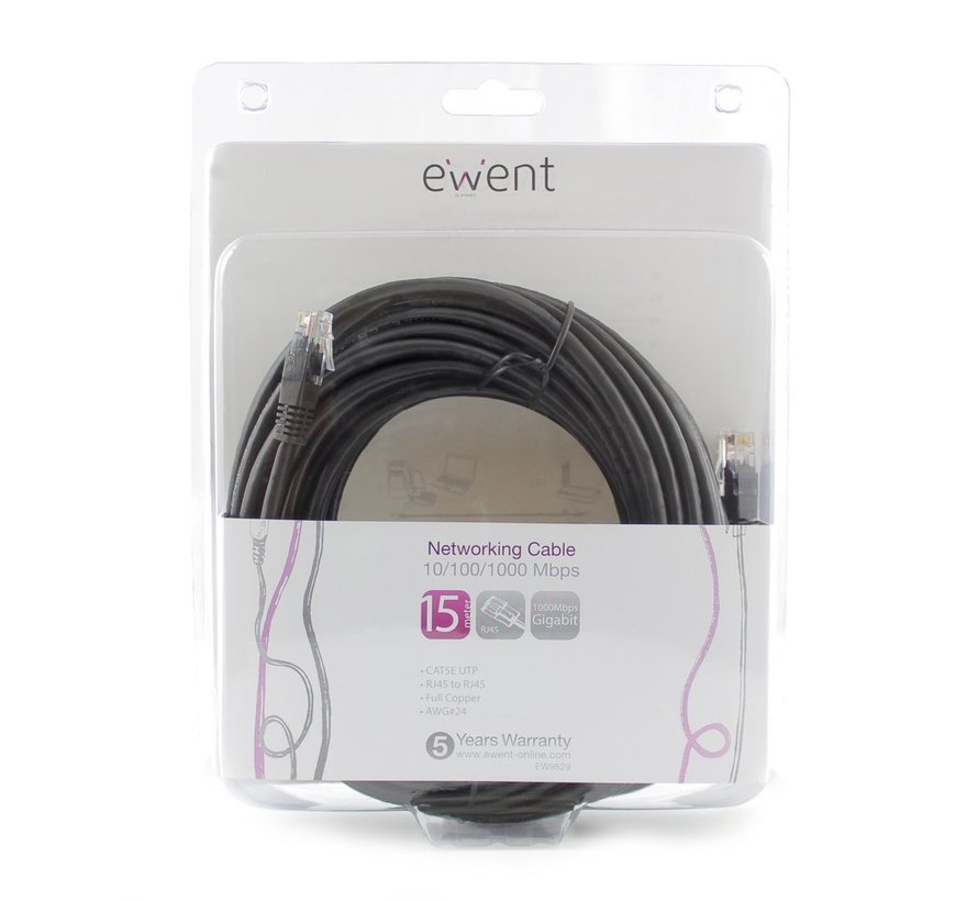 Networking Cable 15 Meter Black