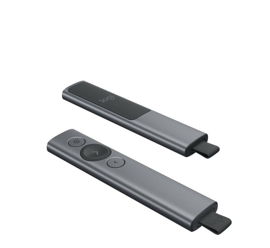 Spotlight Draadloze presenter Bluetooth/RF Grijs