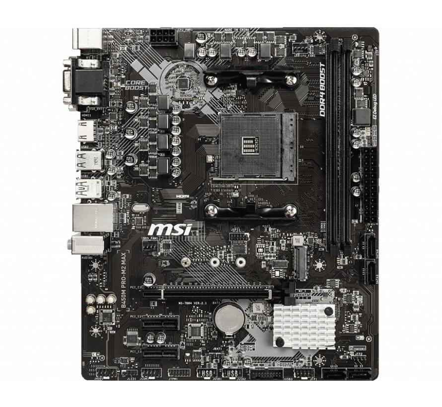 MB  B450M PRO-M2 MAX Socket AM4 micro ATX AMD B450 (refurbished)