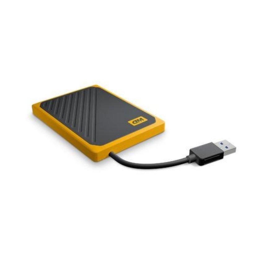 SSD Ext  My Passport Go 500 GB Zwart, Geel