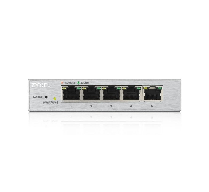 Zyxel GS1200-5 Managed Gigabit Ethernet Switch Zilver (refurbished)