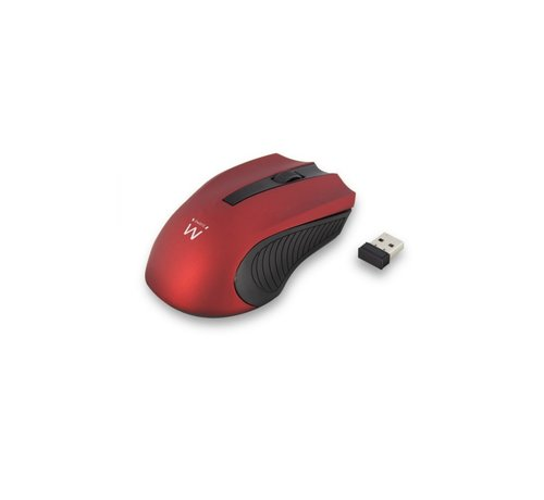 Ewent Wireless mouse red 1000dpi