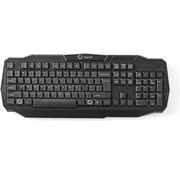 Nedis Bedraad Gamingtoetsenbord | USB 2.0 | Amerikaanse Internationale Indeling | Zwart