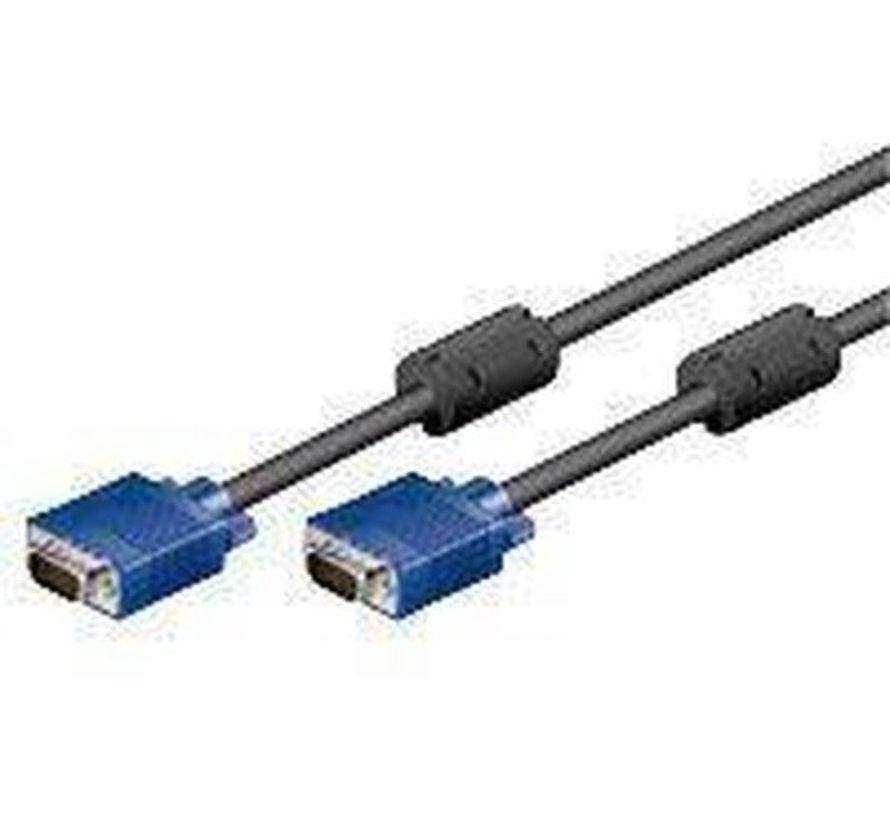 Goobay CAK XGA SVGA 180 15M/15M 1.80m VGA kabel 1,8 m VGA (D-Sub) Zwart