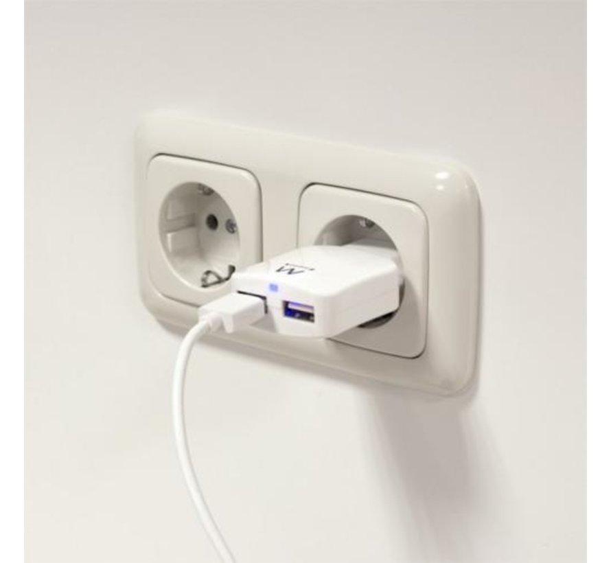 USB Charger 110-240V 2 port smart charging 2.1A