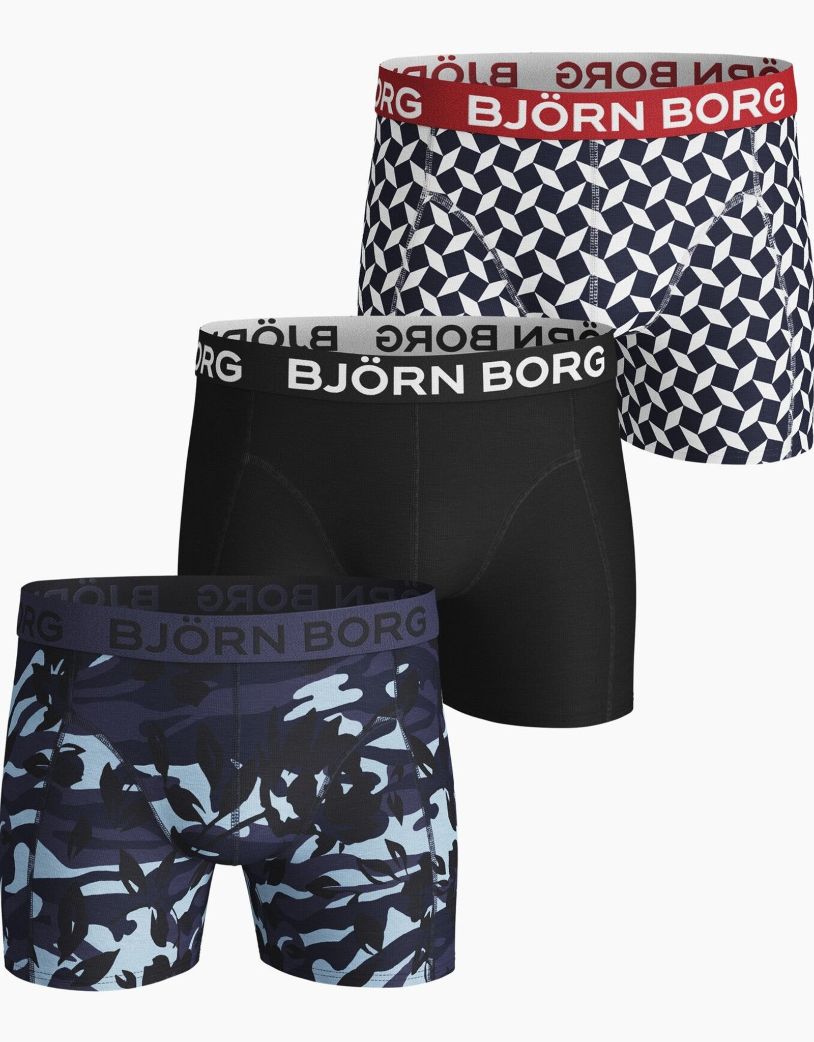 Bjorn Borg Boxershorts 3 Pack Camo Floral