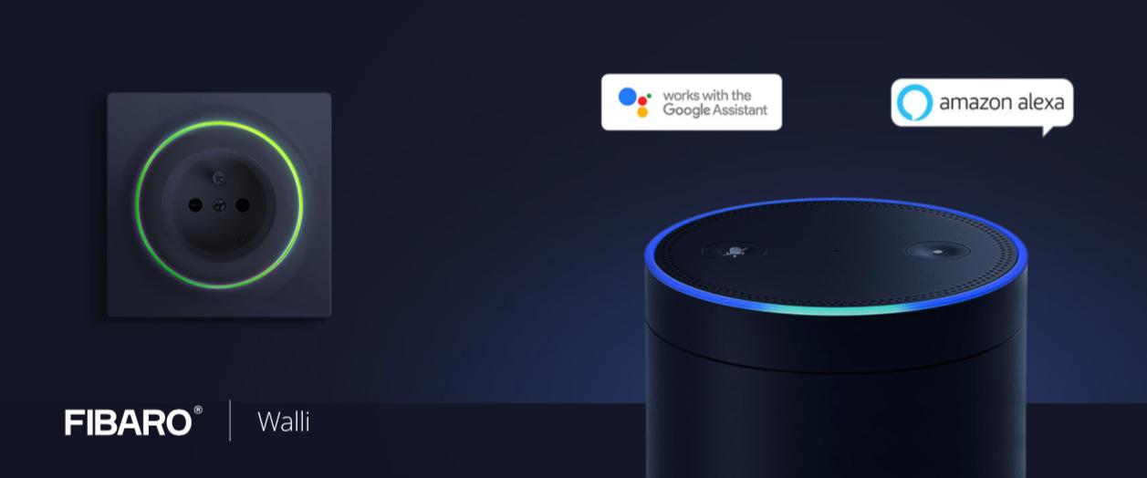 Fibaro Walli met Google Home, Apple Siri, en Alexa