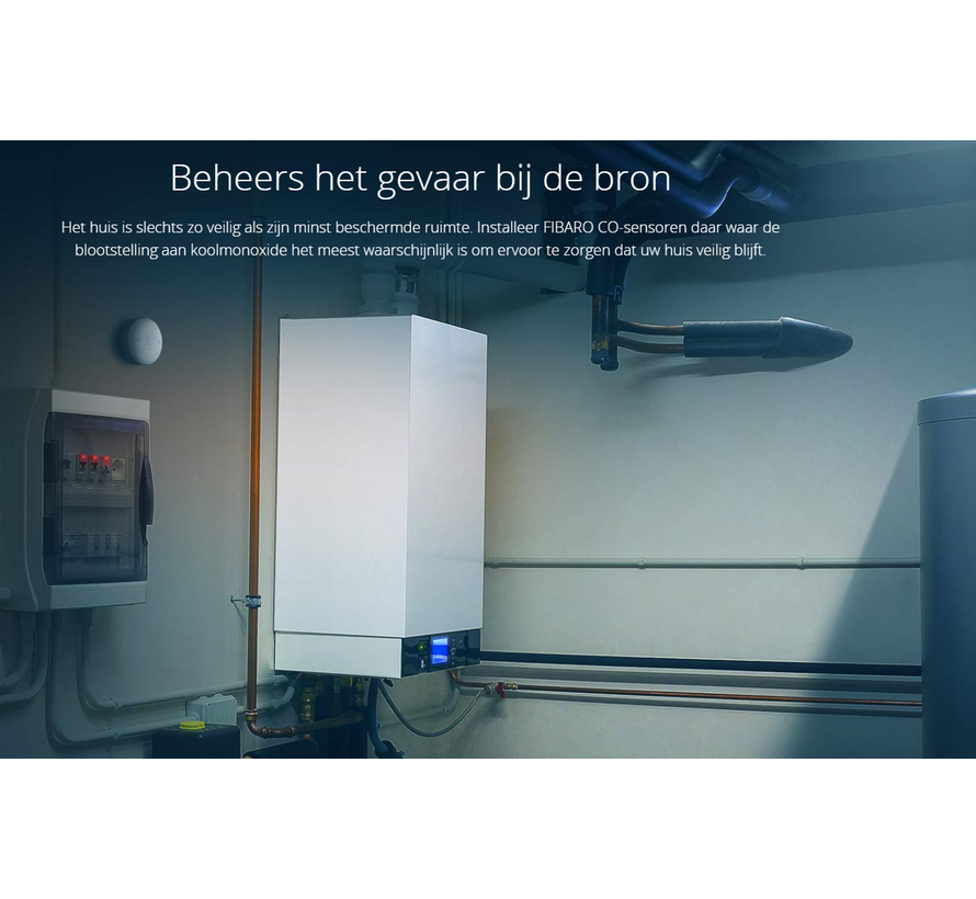 CO sensor met temperatuurmeter HomeKit