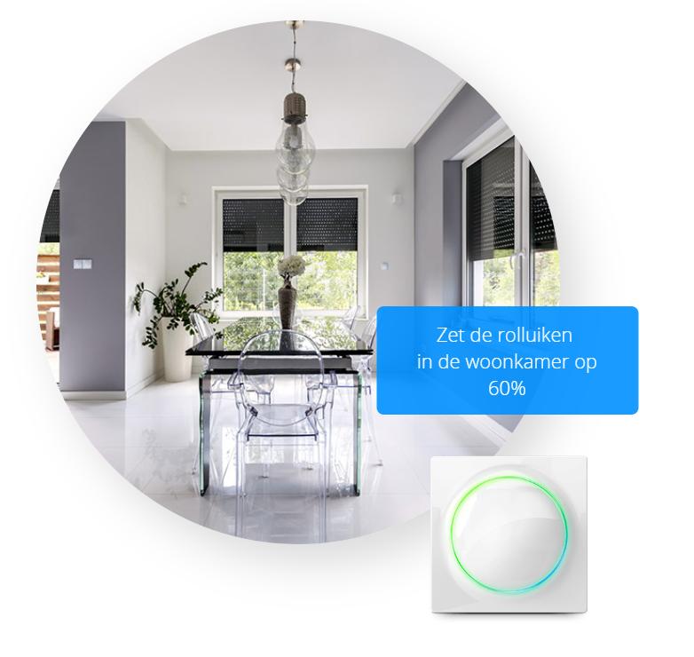 Fibaro Walli rolluiken-Smart home lichtschakelaar en stopcontact - The Walli Series