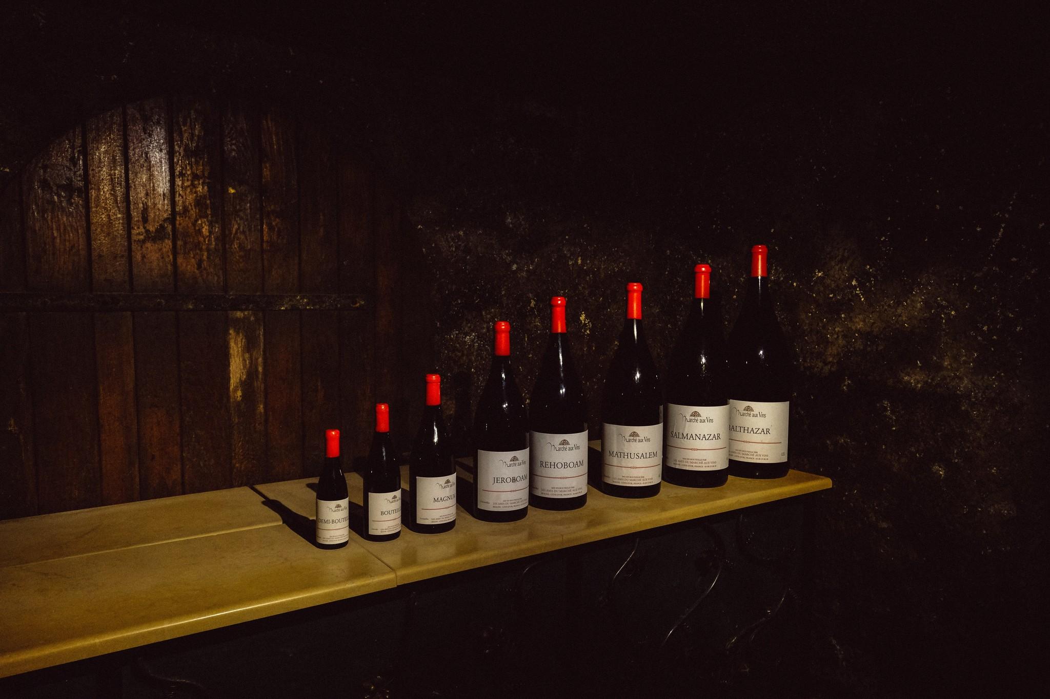 Wijnflessen in verschillende formaten!