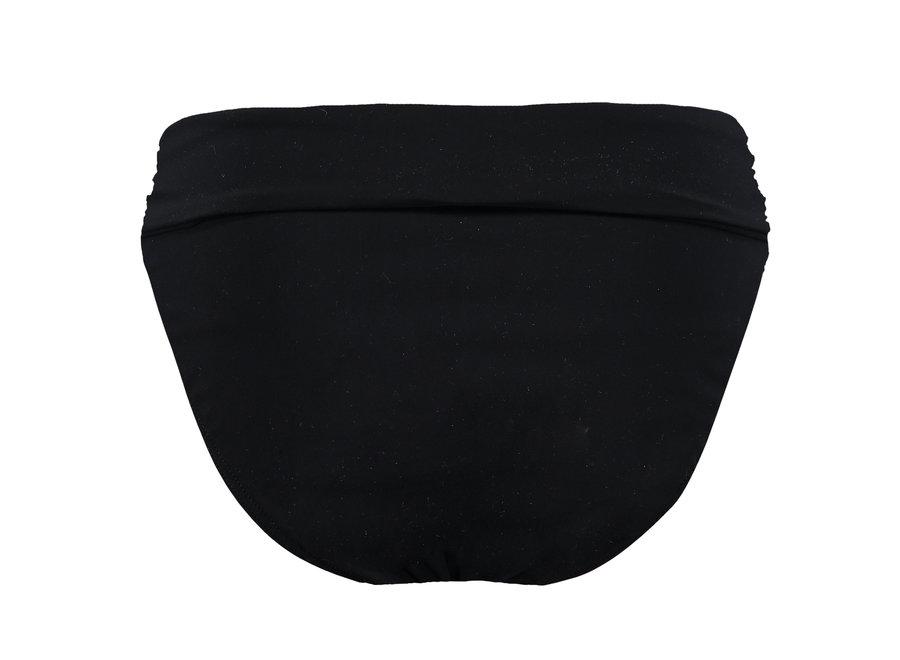 Solid High Waist Briefs Black