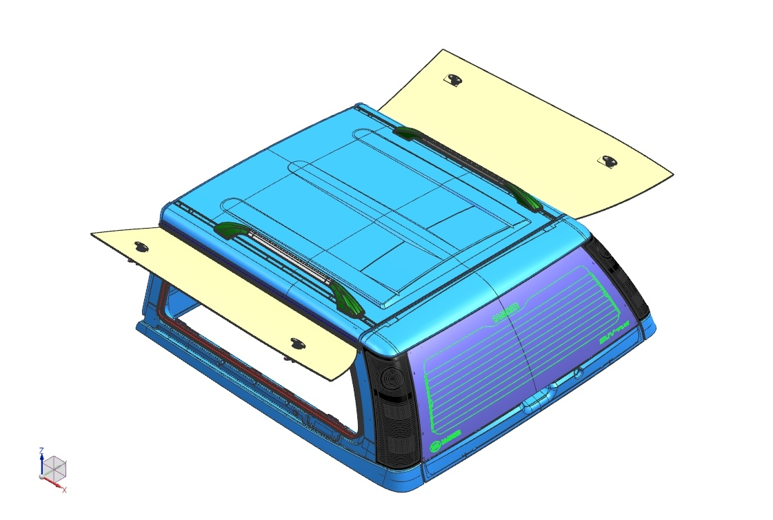 Isuzu Isuzu D-Max (2017-) V4 Doublecab Glass Bird Wing Window
