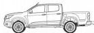 Chevrolet Chevrolet new Colorado V2 Doublecab Glass Slide Window