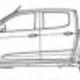 Chevrolet Chevrolet new Colorado V2 Doublecab Glass Bird Wing Window