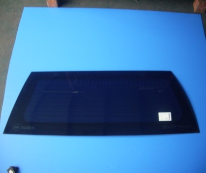 Rear tinted glass with defroster w/o hole