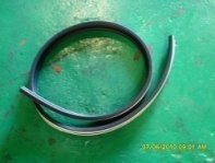Rubber seal under canopy