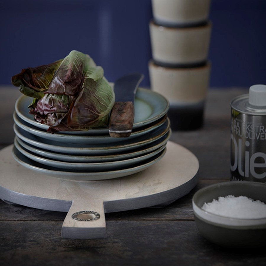 Bord dessert plate ceramic 70's moss-2