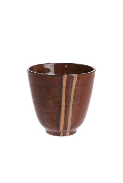 Mok kyoto ceramics: japanese yunomi mugs bruin