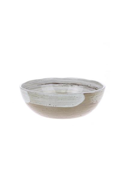 Kom kyoto ceramics: brushed noodle bowl