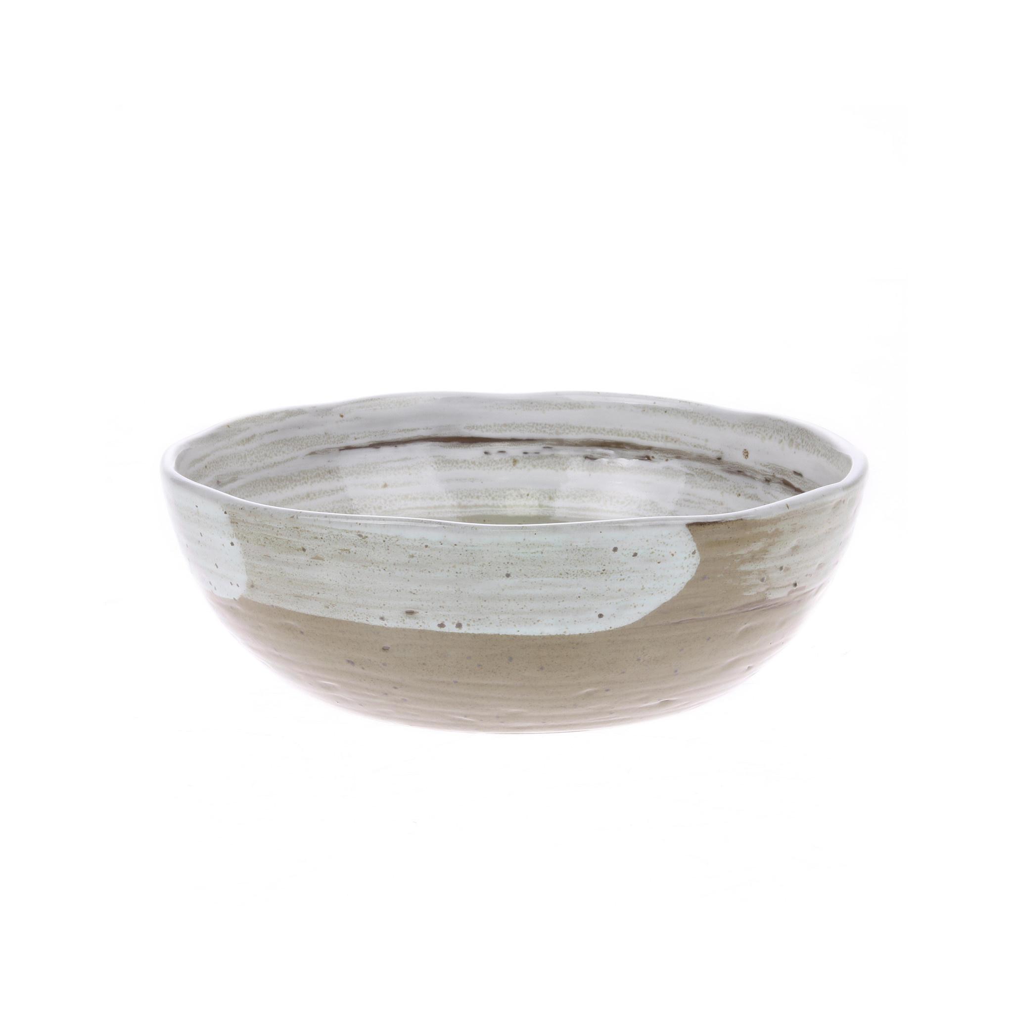 Kom Ceramic brushed noodle bowl-1