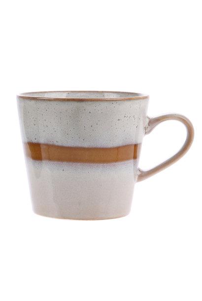 Mok ceramic 70's cappuccino mug: Snow