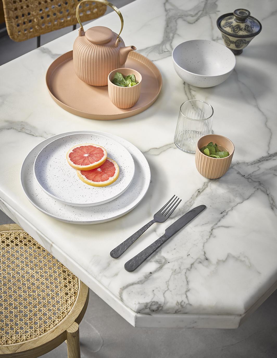 Bord ceramics Ø21cm White-2
