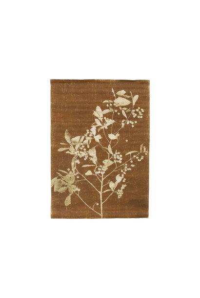 Wandposter linen wall chart blueberry twig